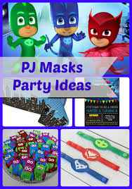 Pj Mask Party Decorations PJ Masks Birthday Party Ideas and Themed Supplies Birthday Buzzin 21