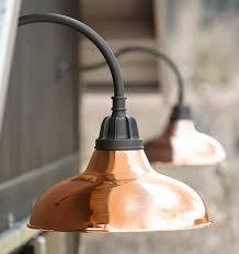 outdoor gooseneck light fixture copper