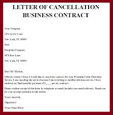 printable sample contract termination letter form business agreement sample letter