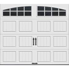 this review is from gallery collection 8 ft x 7 ft 18 4 r value intellicore insulated white garage door with arch window