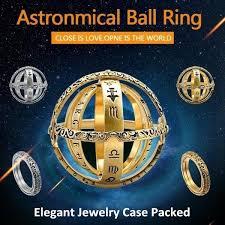 <b>Creative</b> Copper <b>Astronomical Ball</b> Rings Love Ring Spherical Retro ...