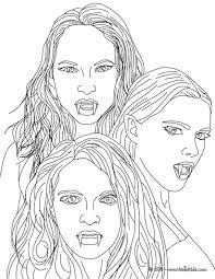 Kleurplaat The 3 Empusa Mythical Vampires Coloring Page Kleurplaat