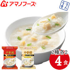 Types Of Meals Emon Hiroba Amano Foods Freeze Dried Congee Two Types Each 2 Meals