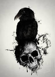 Raven And Skull By Nicklas Gustafsson тату Tatuagem Tatuagem