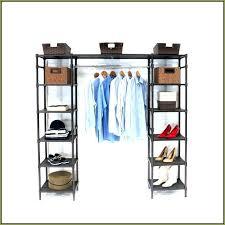 expandable closet organizer classics system chrome shelf rod