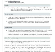 Desktop Support Manager Resume Examples Profile Summary For Engineer