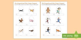 The Gingerbread Man Finger Puppets Puppet Craft Activity
