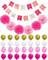 custom happy birthday banner buy custom pink gold black happy birthday banner with balloons and