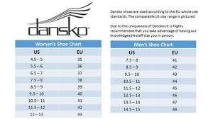 Inc Shoes Size Chart Water Tower Place Uniforms Inc Dansko Size Chart
