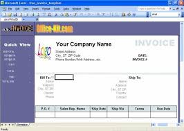 Excel Invoice Format Excel Invoice Template Download