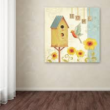 trademark fine art 24 in x 24 in welcome home i by