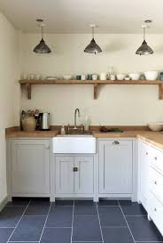 country cottage lighting ideas. Lovely Country Style Kitchen Wall Tiles Border Oak Gray Cabinets Cottage Lighting Ideas