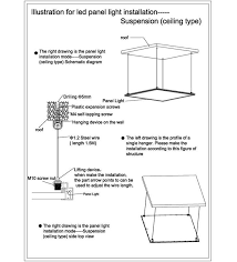 led panel light suspended mounted ceiling type installation instructions