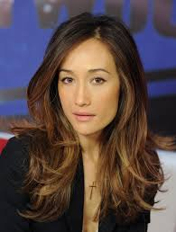 Maggie Q, my fellow asian/white love her hair