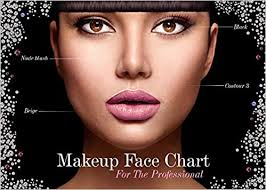 Bridal Face Chart The Face Charts For Makeup Artists Note Bridal Makeup Book 8