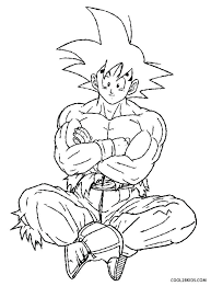 Goku Printable Coloring Pages Best Of Dragon Ball Z Color Pages
