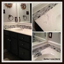 Diy Bathroom Floors Diy Tile Project Helloi Live Here Diy Bathroom Vanity Tile Tsc