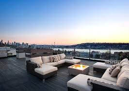 rooftop furniture. Roof Deck Furniture Contemporary With Fire Pit Real Flame Square Propane Table Rooftop