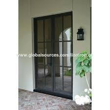 china popular modern design steel french bi fold door glass door on bi fold doors with