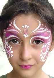 girls pink princess face paint party make up ideas