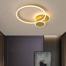 modern round ceiling light gold ring