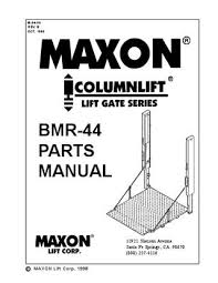 maxon bmr series by the liftgate parts co issuu page 1