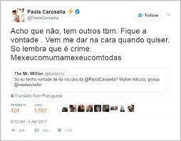Após ofensa de internauta, Paola Carosella dá resposta no Twitter