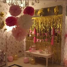 gold foil fringe curtain 1 2m door curtains tinsel shining party wedding birthday marriage gathering decoration in party diy decorations from home garden