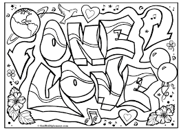 Small Picture ONE LOVE Graffiti Free Coloring Page Graffiti Printable And Love