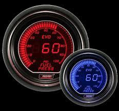 prosport digital red and blue evo series electrical fuel pressure gauge evo electrical fuel pressure gauge
