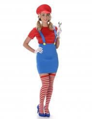 Red Plumber Costume For Women