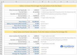Salary Calculator In Excel Free Download How To Calculate Salary Increase Percentage In Excel Free