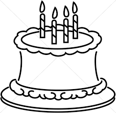 birthday cake clip art black and white. Perfect White Line Art Birthday Cake In Clip Black And White