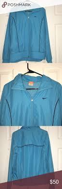 Light Blue Nike Jacket Nike Windbreaker Light Blue Nike Windbreaker With Pockets