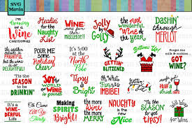 Free for commercial use no attribution required high quality images. Funny Christmas Wine Glass Svg File Bundle Holiday Wine Svg 301443 Svgs Design Bundles
