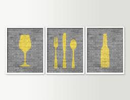 kitchen modern kitchen wall decor ideas yellow wine bottle art for canvas framed ar