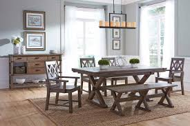 weathered wood dining table. Saw Buck Dining Table Weathered Wood L