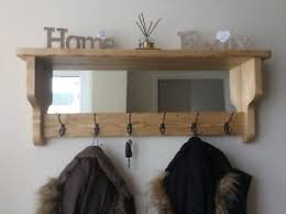 Coat Hook Rack With Mirror Beautiful quality handmade rustic wooden coat hook rack with mirror 78