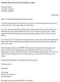 Official Mails Sample Sample Business Event Invitation Letter Just Letter Templates