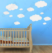 20pcs clouds wall decals removable