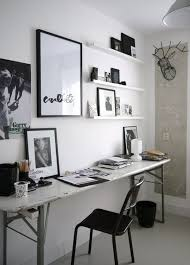 home officeminimalist white small home office. Office:Eclectic Minimalist Home Office With Vintage Desk And Small Wall Shelves Eclectic Officeminimalist White I