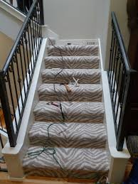 Hairy Zebra Staircase Two Different Ways To Carpet Stairs N L in Wall To  Wall Carpet