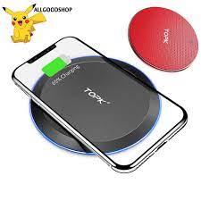 Đế sạc nhanh không dây TOPK B01W 10W cho iPhone Xs Max X 8 Plus Samsung  Note 9 Note 8 S10 - Đế sạc không dây