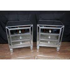Photo Of Pair Mirrored Bedside Chests Nightstands Chest Drawers Bedroom  Furniture