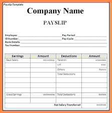 Download Payslip Template New Payslip Template Excel South Africa Free Payment Slip Sample Format