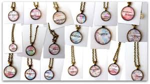 what a fun way to create a special keepsake of your favorite city pick your favorite city and receive a custom made city necklace for 10 99