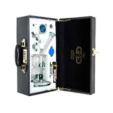 grace gl limited edition vapor bubbler with stone diffuser plete set in leather gift case green