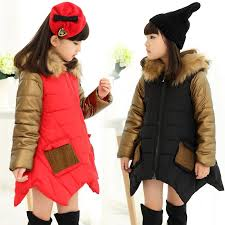 the latest winter in big korean fashion girls girls thickened hooded fur collar coat jacket gold mosaic nouveau riche girls waterproof coats winter coats