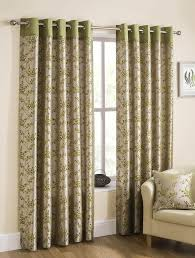 blossom ready made lined eyelet curtains lime luxury ringtop curtains uk delivery