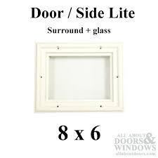 exterior door replacement glass 8 x 6 x 1 2 1 lite surround w stanley exterior
